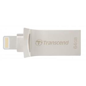 Флеш-накопичувач Transcend 64ГБ Lightning/USB 3.1 JetDrive Go 500 Сріблястий (TS64GJDG500S)