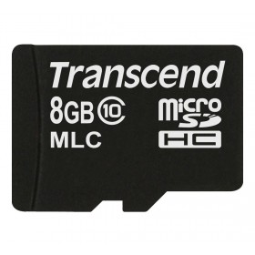 Картка пам'яті Transcend 8ГБ microSDHC Class 10 24МБ/с 22МБ/с MLC Промислового класу (TS8GUSDC10M)